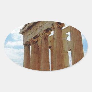 Atenas Grecia Calcomanías Ovaladas