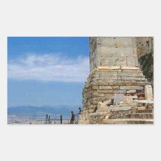Atenas Grecia Rectangular Pegatinas