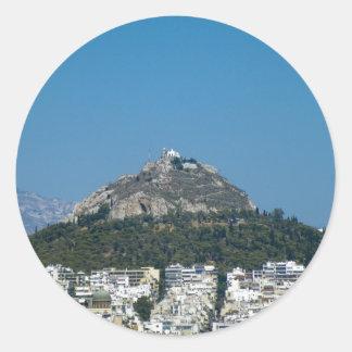 Atenas Pegatina Redonda