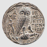 Atenas Tetradrachm de plata Pegatina Redonda