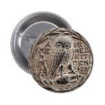 Atenas Tetradrachm de plata Pin Redondo De 2 Pulgadas