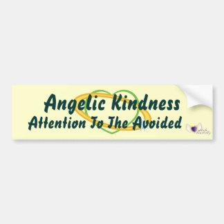 Atención angelical de la amabilidad al Avoided-Cus Pegatina Para Auto