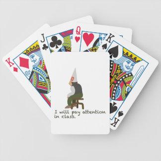 Atención de la paga cartas de juego