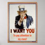 """""""Atención de la paga en poster de la clase"""""""