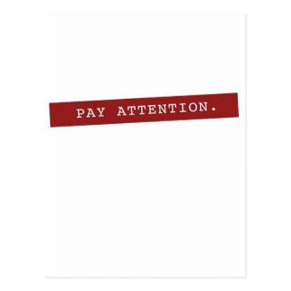 Atención de la paga - obra clásica postales