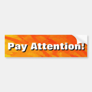 ¡Atención de la paga! Pegatina Para Auto
