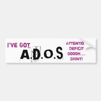 Atención, déficit, Ooooh… ¡Brillante! Etiqueta De Parachoque