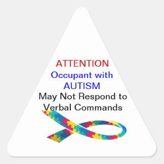¡atención! El inquilino tiene los pegatinas del Colcomanias Trianguladas Personalizadas