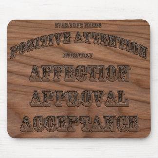 Atención positiva Mousepad del AAA Alfombrilla De Raton