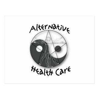 Atención sanitaria alternativa tarjeta postal