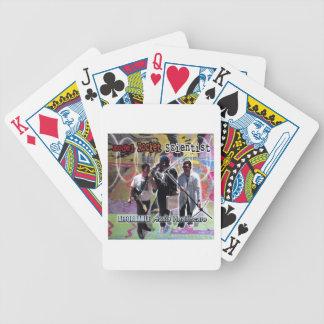 Atención sanitaria audio asequible del científico baraja cartas de poker