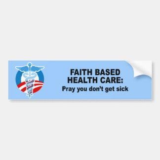 Atención sanitaria basada fe - ruegúele no consigu pegatina para auto