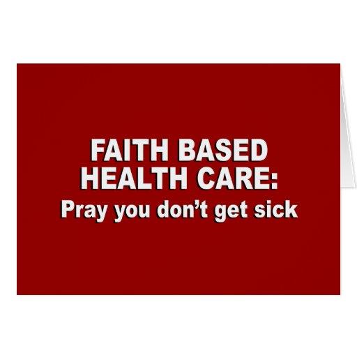 Atención sanitaria basada fe - ruegúele no consigu tarjeta de felicitación