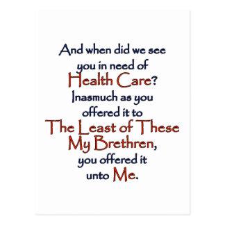 Atención sanitaria cristiana postales