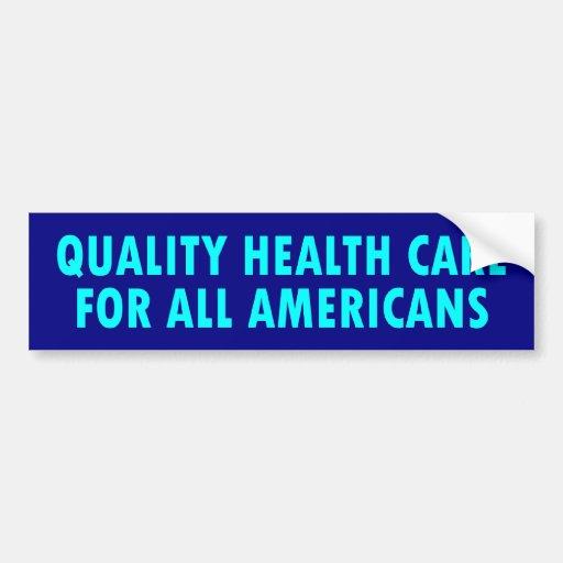 atención sanitaria de la calidad etiqueta de parachoque