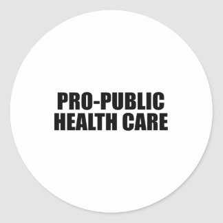 Atención sanitaria del Favorable-Público Pegatina Redonda