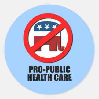 Atención sanitaria del Favorable-Público Pegatina