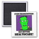 atención sanitaria del frankenstein imanes de nevera