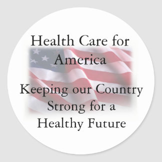 Atención sanitaria para América Pegatina Redonda