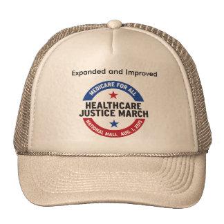 atención sanitaria para todo el gorra de la marcha
