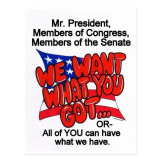 Atención sanitaria queremos lo que usted consiguió postales
