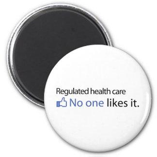 Atención sanitaria regulada imán redondo 5 cm