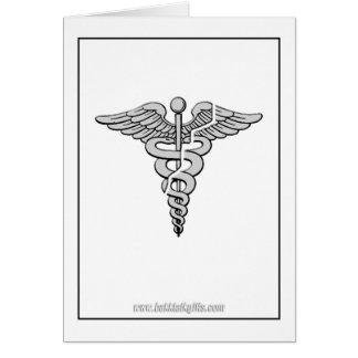 Atención sanitaria tarjeta de felicitación