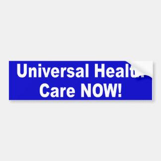 atención sanitaria universal etiqueta de parachoque