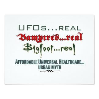 Atención sanitaria universal invitaciones personalizada