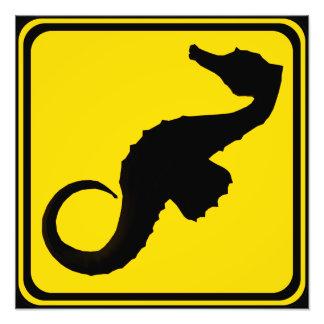 Atención: ¡Seahorses Xing! Arte Fotografico