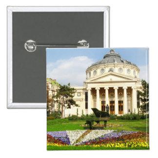 Ateneo rumano pin cuadrada 5 cm