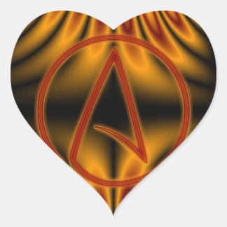 Ateo A Pegatina En Forma De Corazón