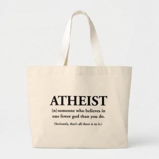 ateo: alguien que cree en uno menos a dios bolsas