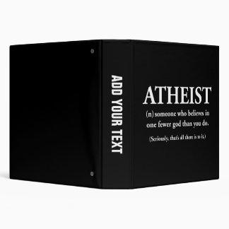"""ateo: alguien que cree en uno menos a dios carpeta 1 1/2"""""""