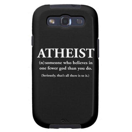 ateo: alguien que cree en uno menos a dios samsung galaxy s3 funda
