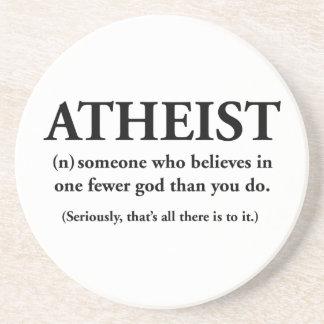 ateo: alguien que cree en uno menos a dios posavasos cerveza