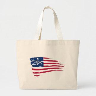 Ateo americano bolsa tela grande