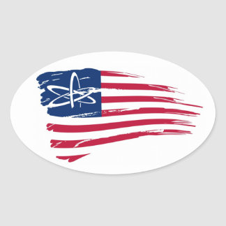 Ateo americano pegatina ovalada