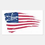 Ateo americano rectangular pegatinas