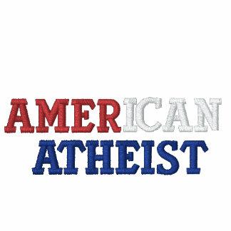 Ateo americano sudadera bordada con capucha
