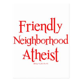 Ateo amistoso de la vecindad tarjetas postales