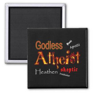 Ateo ateo imán cuadrado
