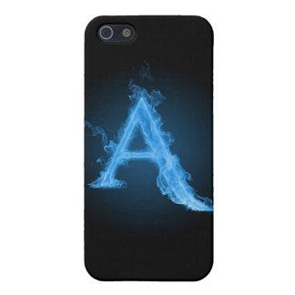 Ateo azul A iPhone 5 Cárcasa