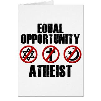 Ateo de la igualdad de oportunidades tarjeta de felicitación