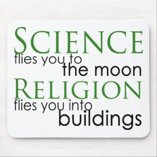 Ateo de la religión y de la ciencia tapete de ratón