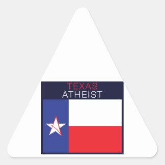 Ateo de Tejas Pegatina Triangular