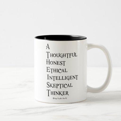 Ateo definido tazas de café