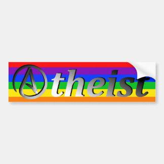 Ateo del arco iris pegatina para auto