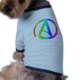 Ateo del arco iris camisas de perritos