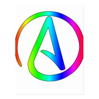 Ateo del arco iris tarjeta postal